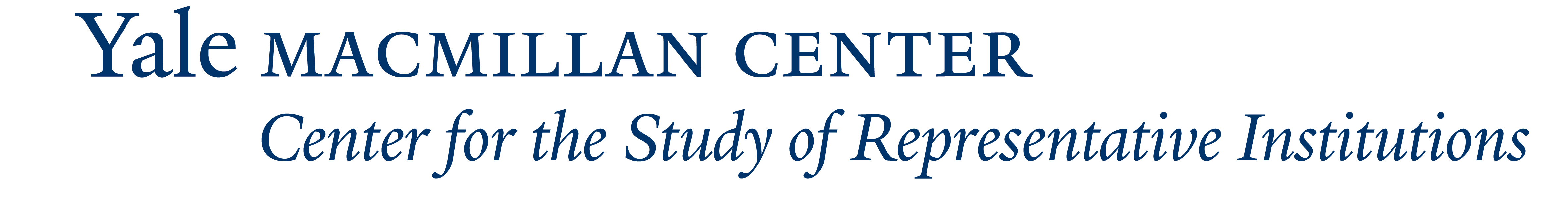 Yale MacMillan Center - Center for the Study of Representative Institutions